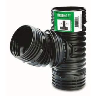 Flex-Drain ADP53702 Flexible T  Y Landscaping Drain Pipe Adapter