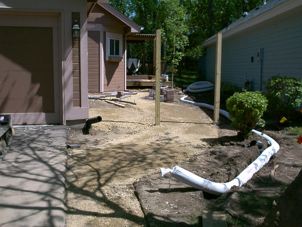 image of French drain construction.